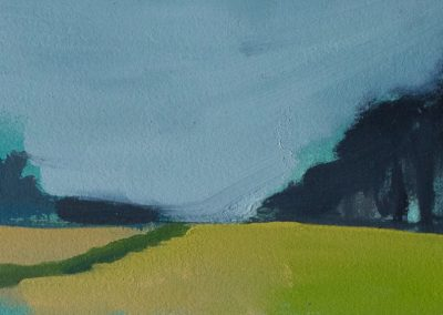 Claire Beattie, Avenue Late Afternoon, oil on paper, 11x36cms, 2021