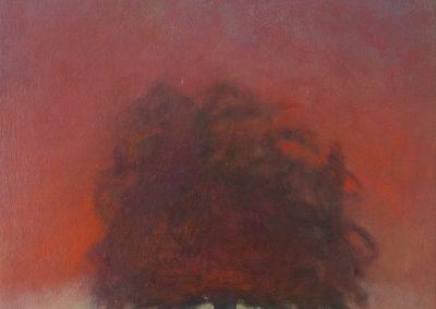 Claire Beattie, Blue Sky up High, oil on canvas, 50x40cms, 2021