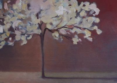 Claire Beattie, Evening Blossom, oil on canvas, 60x30cms, 2021