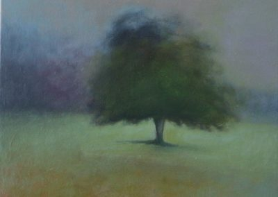 Claire Beattie, Field Note, oil on canvas, 36x36cms, 2021