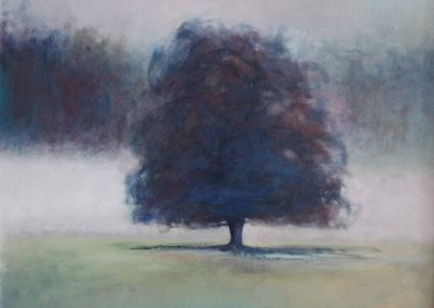 Claire Beattie, Hazy Misted Morning, oil on canvas, 60x60cms, 2020