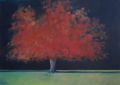 Claire Beattie, Long Shadows, oil on canvas, 100x100cms, 2019