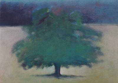 Claire Beattie, Quiet Shelter, oil on canvas, 36x36cms, 2018