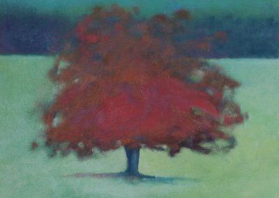 Claire Beattie, Russet Jewel, oil on canvas, 36x36cms, 2018