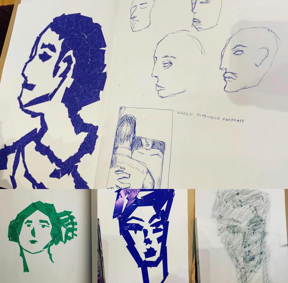 Claire Beattie, Drawing portraiture workshop, 2019