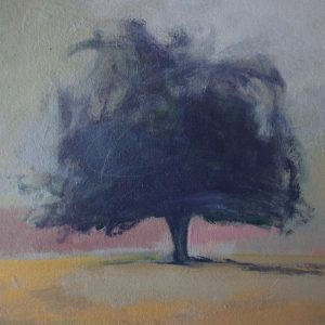 Windswept, oil on paper, 2021, 29x19cms